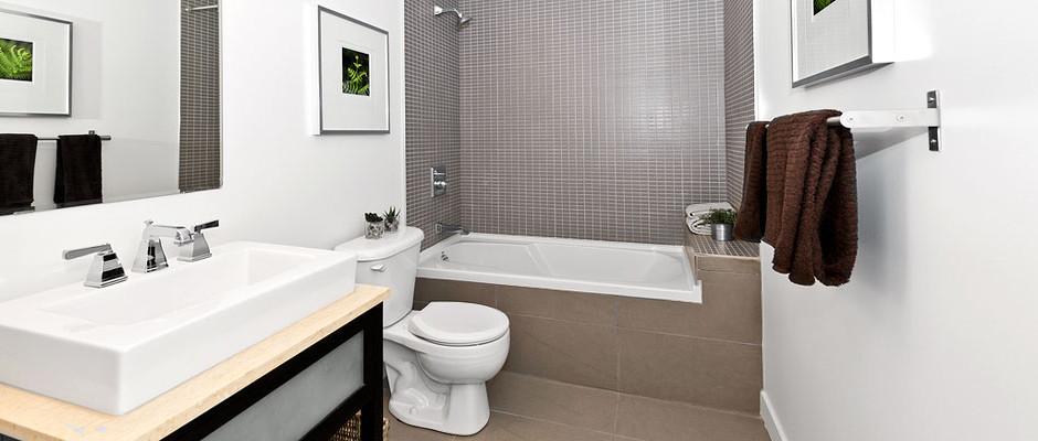 Rekonstrukce koupelny a WC Nabízíme kompletní rekonstrukce koupelen, bytových jader i celého bytu. Specializujeme se na rekonstrukce koupelen z bytových jader panelových bytů.Provádíme veškeré související práce, jako jsou obklady koupelen, instalatérské a elektrikářské práce, montáže sanity a osvětlení, pokládka podlah a montáž obložkových zárubní. Rekonstrukce koupelny v panelovém domě trvá[...]